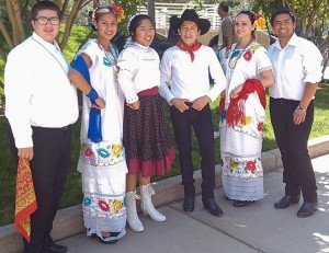 Juan with his Folklorico group at UC Riverside